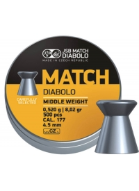 [Strelivo Diabolo JSB Match Middle weight 500ks 4,50mm]