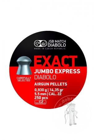 Strelivo Diabolo JSB Jumbo Express Exact 5,52 mm 250ks